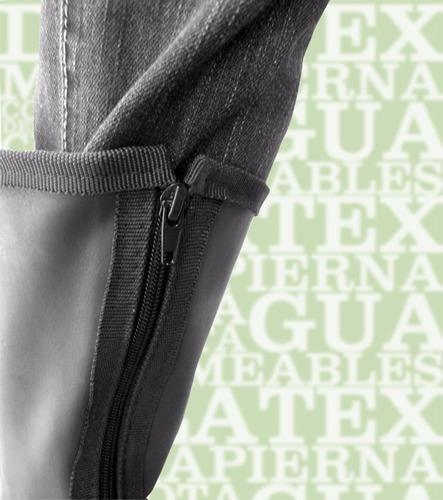 zapatones impermeables para moto bota de látex media pierna