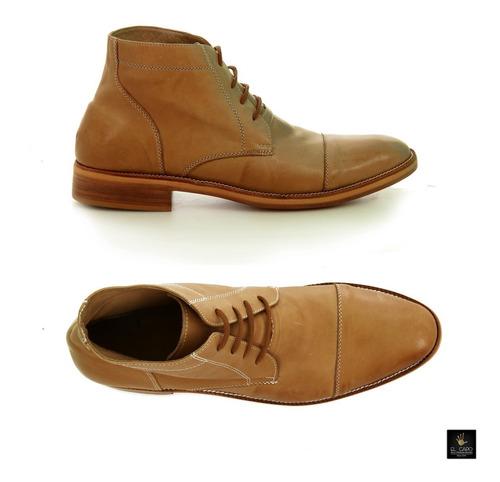 zapatos 100% cuero - z9000 marron