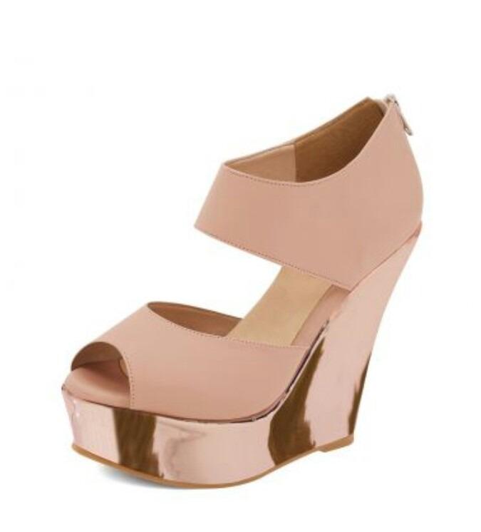 75c73145 Zapatos 16129 Abiertos Tacon 13.5 Plataforma Oro Rosa Fiesta ...