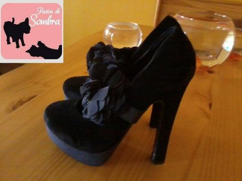 zapatos 2formas de uso,color negro,numero 37(23,5cm) oferta