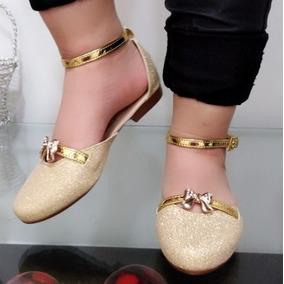 38165fa9b12 Zapatos Bajos Color Dorados - Baletas para Mujer en Mercado Libre ...