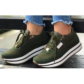 178aec4df3854 Tenis Para Dama Color Verde Zapatos Vestir - Zapatos para Mujer en ...