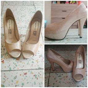 5bf7d75fae0 Tacones Dorados Brillantes Mujer - Zapatos en Mercado Libre Colombia