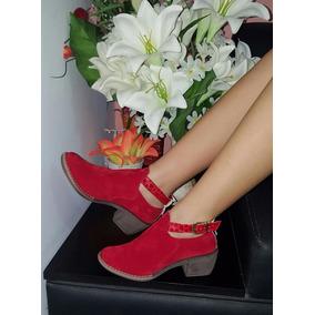 895e6a95e Botines Rojos Elegantes - Zapatos para Mujer en Mercado Libre Colombia