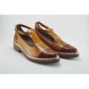 7b3778f8f8091 Zapatos En Cuero Color Miel Para Mujer Mafalda Chic Armori