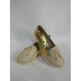 17a1fd7504e63 Zapatos Dorados De Moda Ultima Coleccion Mujer Envío Gratis