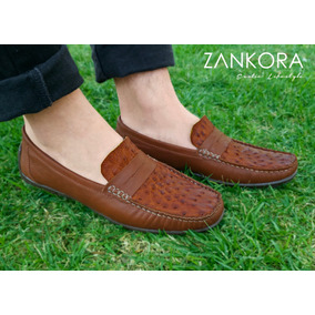 292557497c2dd Zapatos Mocasin Driver 100% Piel Exótico Avestruz Zankora