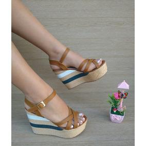 bcb0ce1ba9b7b Zapatos Altos Plataforma Miel De Moda Para Chicas Mujer Dama