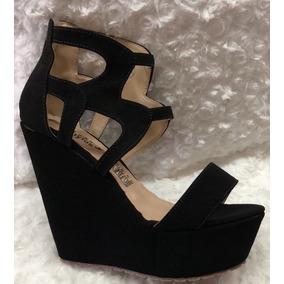 Elegantes Para Color Negro Muy Zapatos Plataforma Sandalias De 54Lc3qRAj