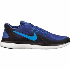 07f2fdfd1b1fd Tenis Nike Flex 2017 Rn 898457-402 Rey Negro Caballero Oi