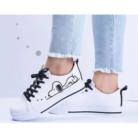 c6ef97e607063 Zapatos Tenis De Snoopy Para Chicas Mujeres Jovenes De Moda