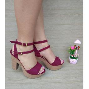 En Zapatos Mercado Para Sandalias Color Mujer Vinotinto 8nmNw0