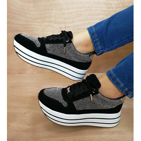 bfbabcca51b95 Calzado Deportivo Tenis Moda Zapatos Mujer Dama Dorado - Zapatos en ...