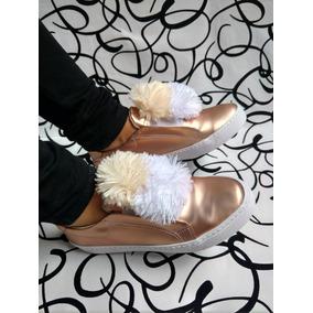 314646d0 As Botin De Oro Zapatos Vestir - Botines para Mujer en Mercado Libre ...