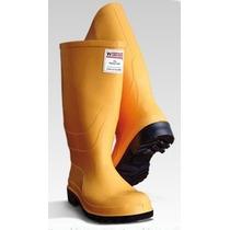 Botas Pvc Amarillas Puntera Seguridad Caucho Caña Alta