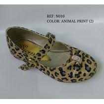 Baleta Calzado Zapato De Niña Animalt Print Envio Gratis