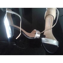 Zapatos Plateados Para Mujer Elegantes