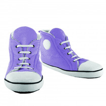Mujeres Zapatillas - Lila Uk 7 Hi-top Estilo Retro De La Nov