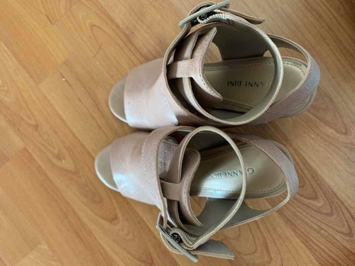 zapatos abiertos gianni bini color beige talla 3.5m