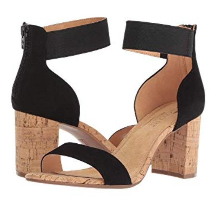 394568a6 Zapatos Abiertos Pulsera En El Tobillo Tacon De Corcho - $ 550.00 en ...