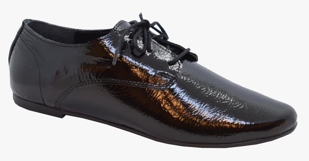 Zapatos Abotinados De Charol Suela De Goma Chatos Mujer 2019