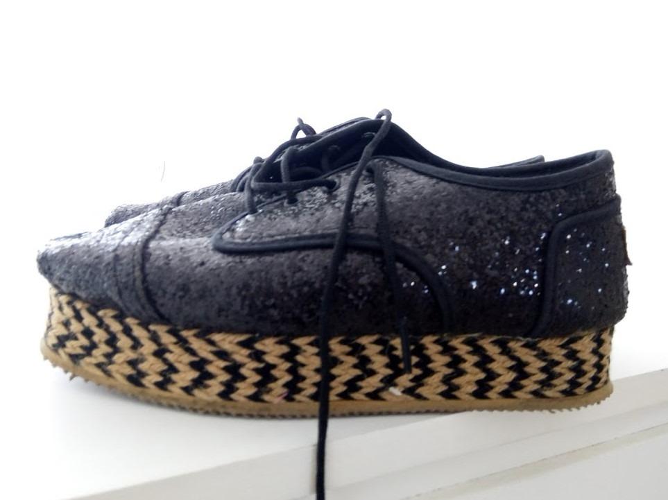 negros mujer chimmychurry zoom abotinados zapatos glitter Cargando xS7OgI 6d6c8a8867bb
