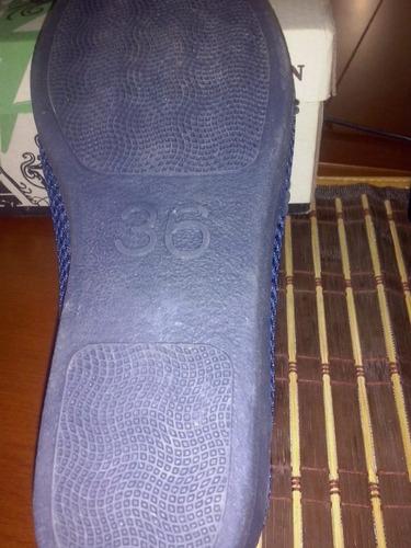zapatos abuelita para dama color azul # 36