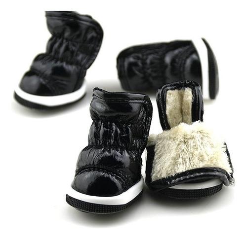 zapatos acolchado mascota razas pequeñas xl - color negro
