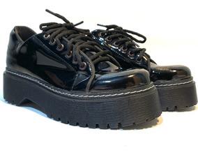4bd5153e Zapatos Charol Mujer Plataforma - Ropa y Accesorios en Mercado Libre  Argentina