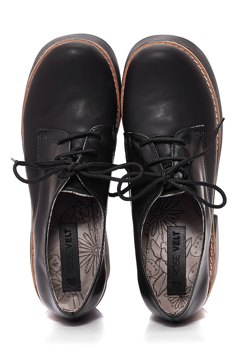 f42e5a39eba56 zapatos acordonados de cuero mujer nuria rosevelt negro. Cargando zoom.