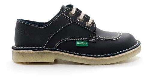 zapatos acordonados kickers colegial clásicos kazar azul
