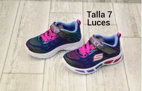 zapatos deportivos skechers para ni�as jeans