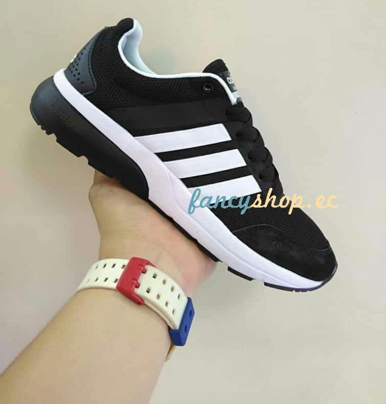brand new b3db6 45a24 ... zapatos adidas negro con raya blanca. cargando zoom.
