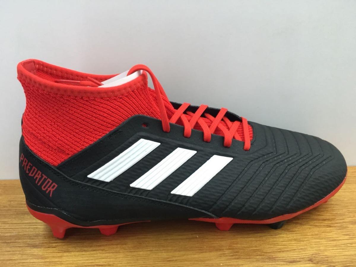 b4faa7f0ba884 zapatos adidas predator 18.3 fg negro   rojo caballero. Cargando zoom.