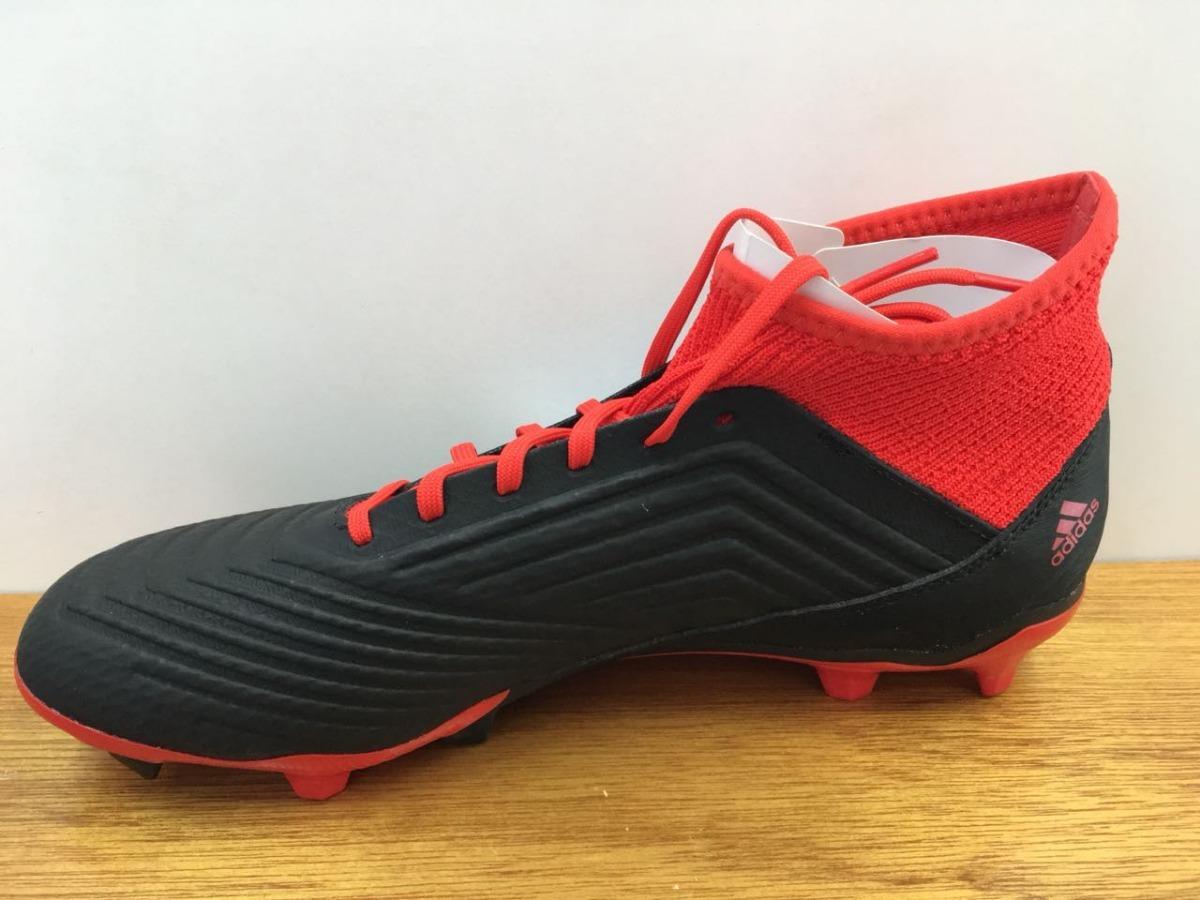 f963285230b54 zapatos adidas predator 18.3 fg negro   rojo caballero. Cargando zoom.