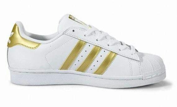 Mercado Bs Zapatos 00 Superstar Talla En 41 Adidas Blancos 990 7 q1F1ZSv