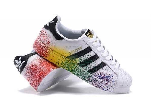 zapatos adidas superstar splash, con chispas t41 y 42