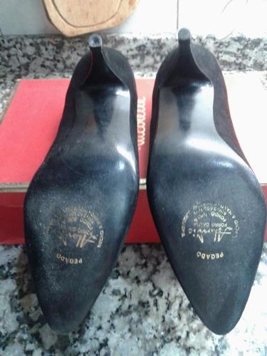 zapatos alonso gamuza negros nº 38