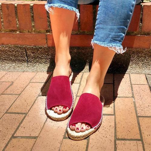 zapatos alpargata hechos a mano color vino tinto