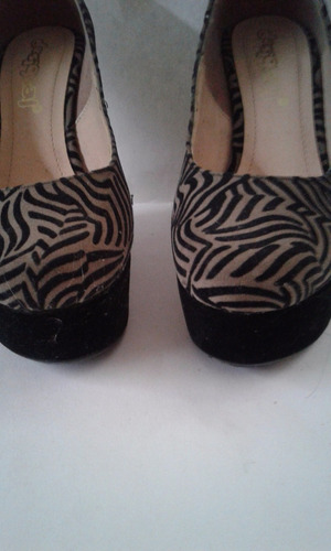 zapatos altos animal print terciopelo plataforma tacón corri