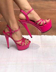 da079e27 Zapatos Altos De Fiesta Tacón 15 Cms Rosas Talla 24
