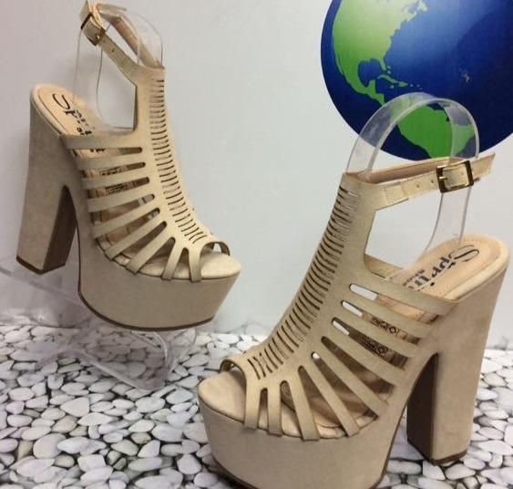 bacbf902c2bbd Zapatos Altos De Tacon Beis Para Mujeres A La Moda Femenina ...