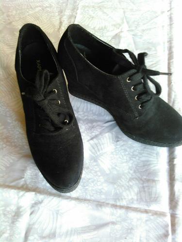 zapatos altos negros dama talla 38