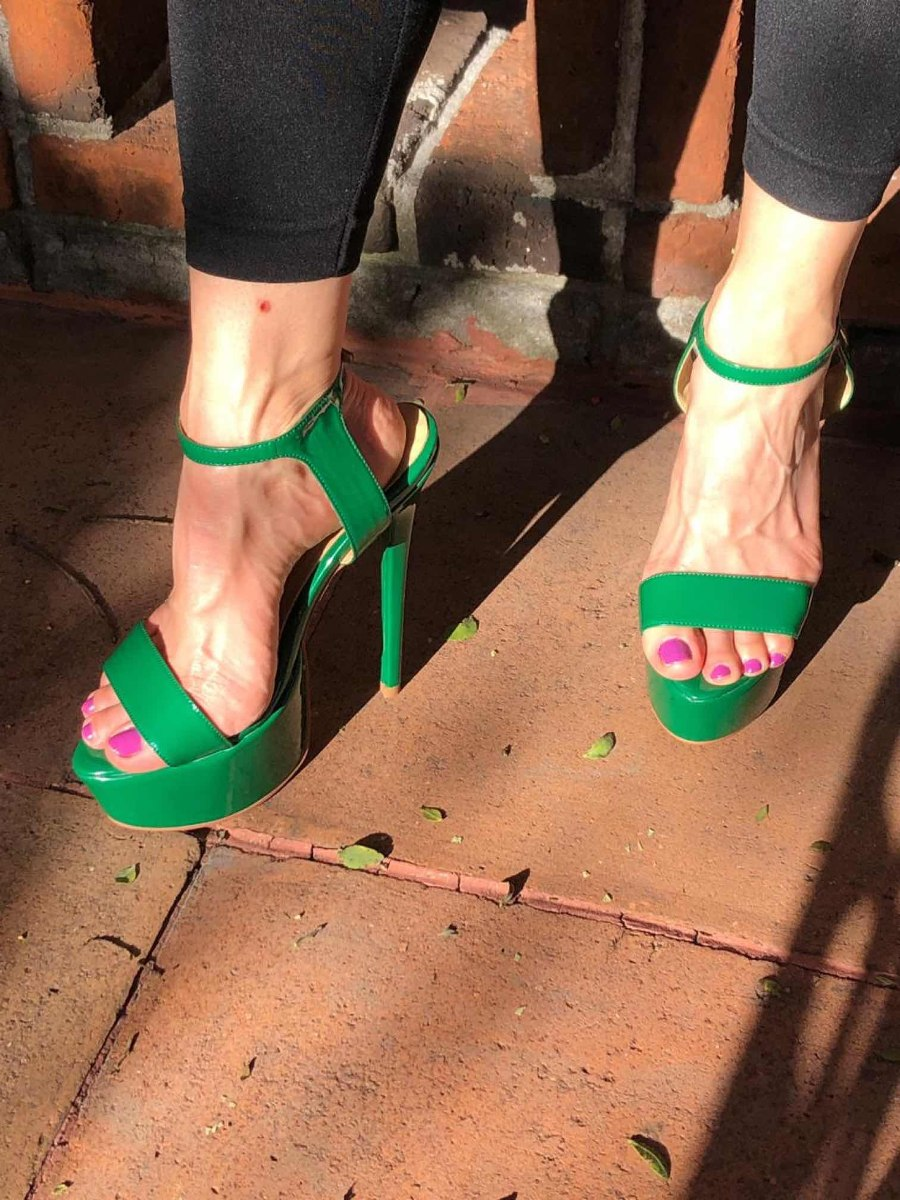 Verde Para 15 Fiesta 25 Zapatos Cms Talla Tacón Altos Sexy eWHIED92Y