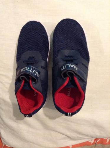 zapatos americanos talla 11 niño, edad 5-6 años nautica 100%