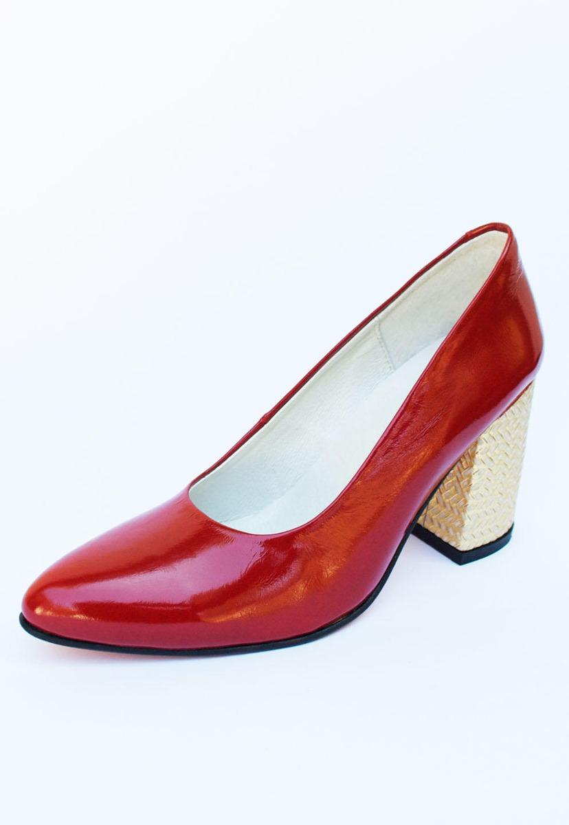 Zapatos Aurelia Charol Rojo Mimbre Dorado NHJ vEBgy