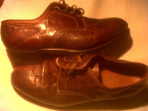zapatos  autenticos lagarto una postura talla  5 y medio-