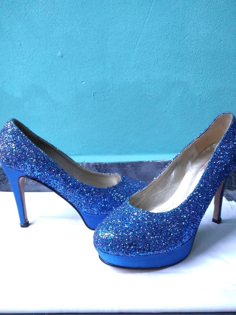 d5a947854b4 zapatos azules de fiesta mujer. Cargando zoom.
