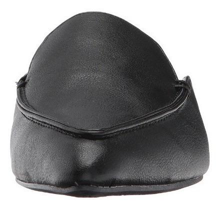 zapatos babuchas negros esprit mia-e  (en cuero)