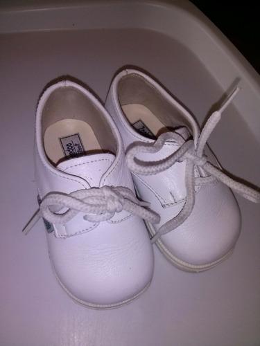 zapatos bebe cuero blanco talle 18 ideal bautismo